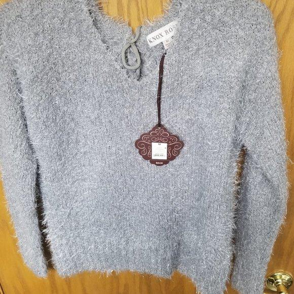 NWT Grey Fuzzy Sweater